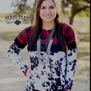 Cowhide christmas sweater
